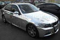 BMW 320 стайлинг серебряной зеркальной плёнкой